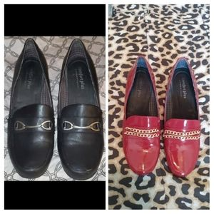 Painted Patent Loafer Heels 11W